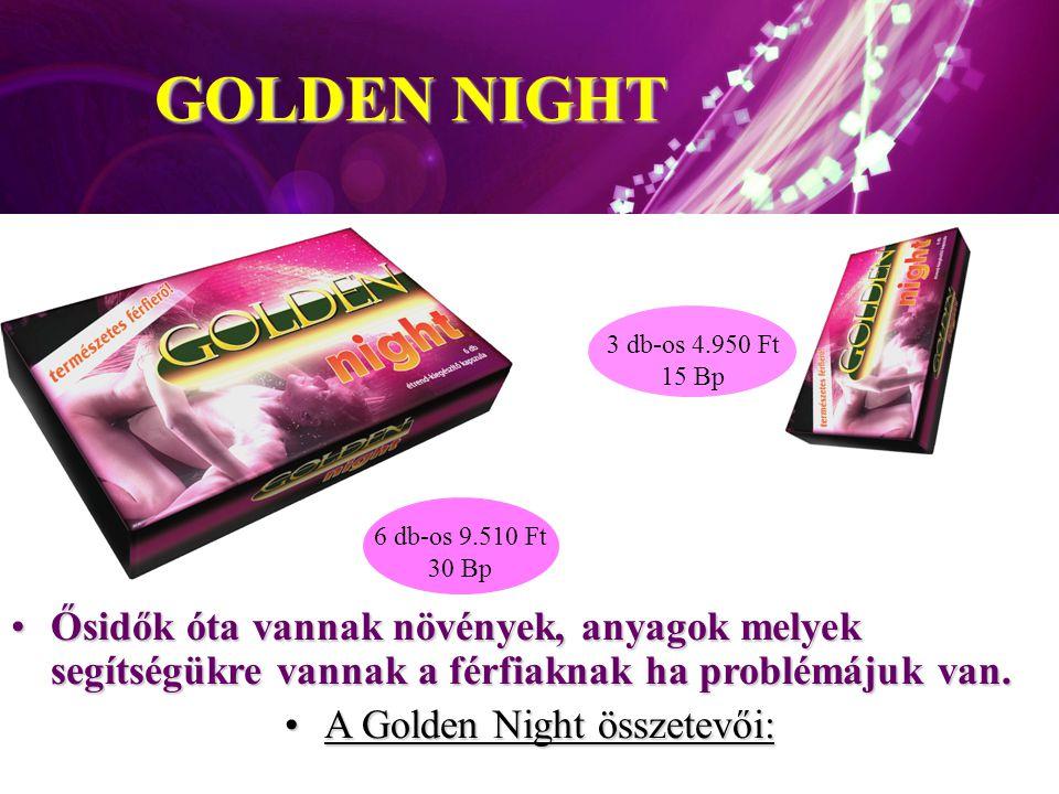 A Golden Night összetevői: