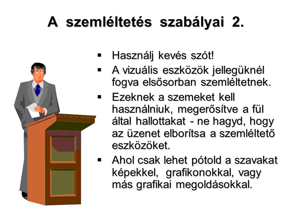 A szemléltetés szabályai 2.