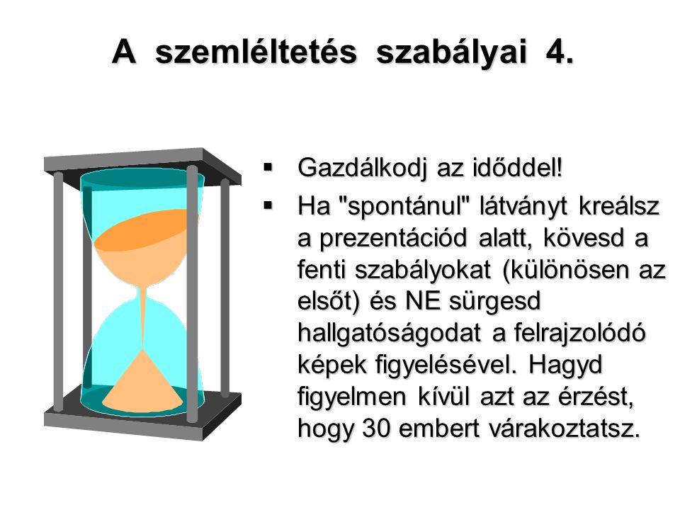 A szemléltetés szabályai 4.