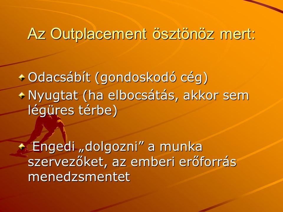 Az Outplacement ösztönöz mert: