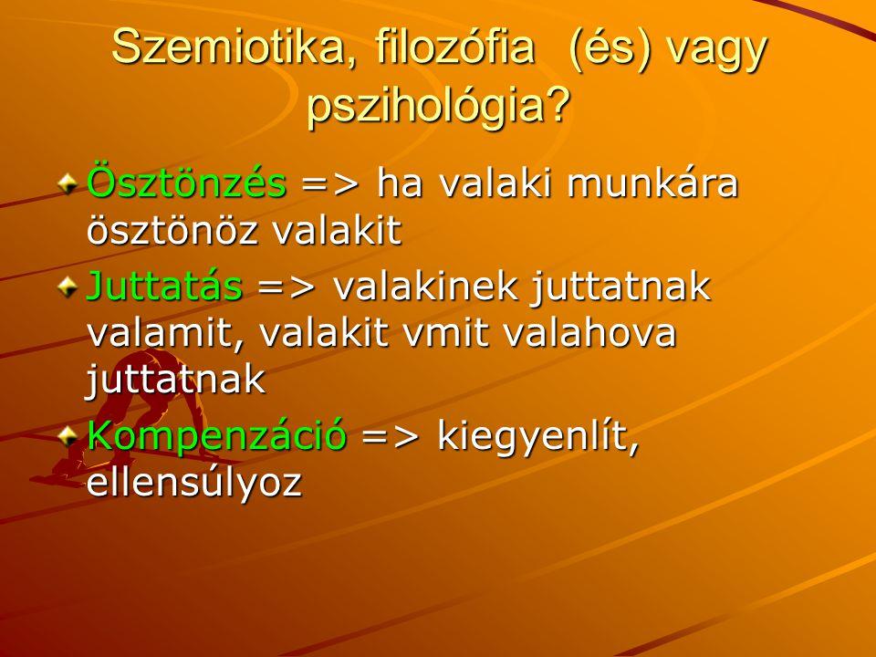 Szemiotika, filozófia (és) vagy pszihológia