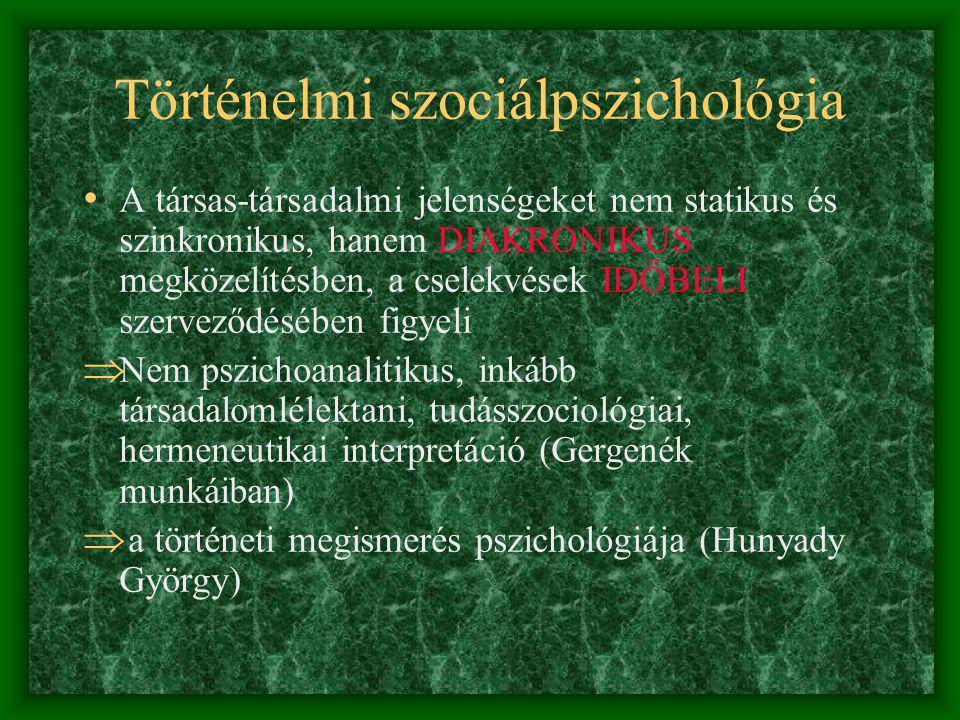 Történelmi szociálpszichológia