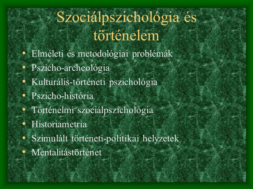 Szociálpszichológia és történelem