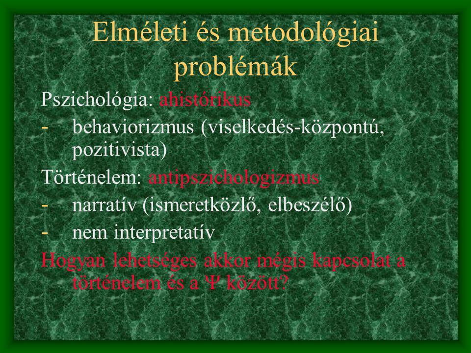 Elméleti és metodológiai problémák