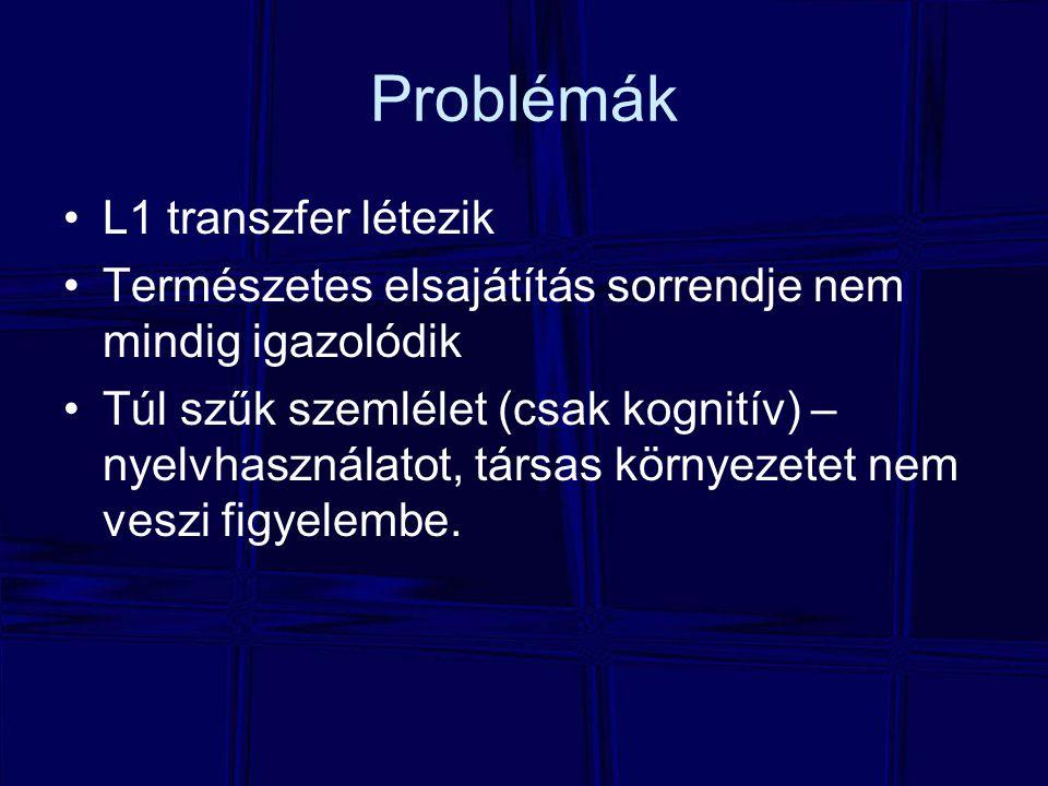 Problémák L1 transzfer létezik