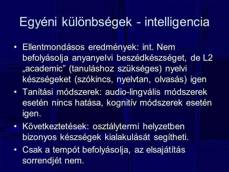 Egyéni különbségek - intelligencia