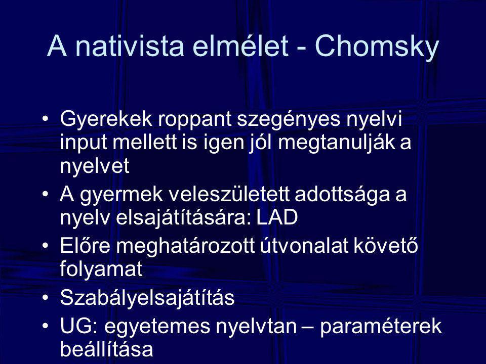 A nativista elmélet - Chomsky