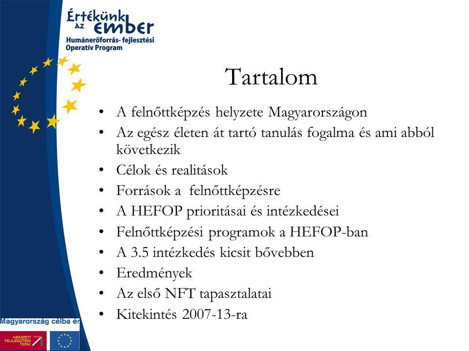 Tartalom A felnőttképzés helyzete Magyarországon