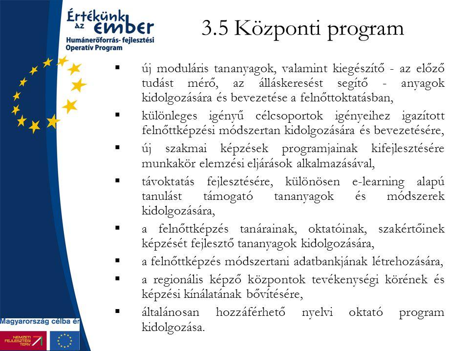 3.5 Központi program