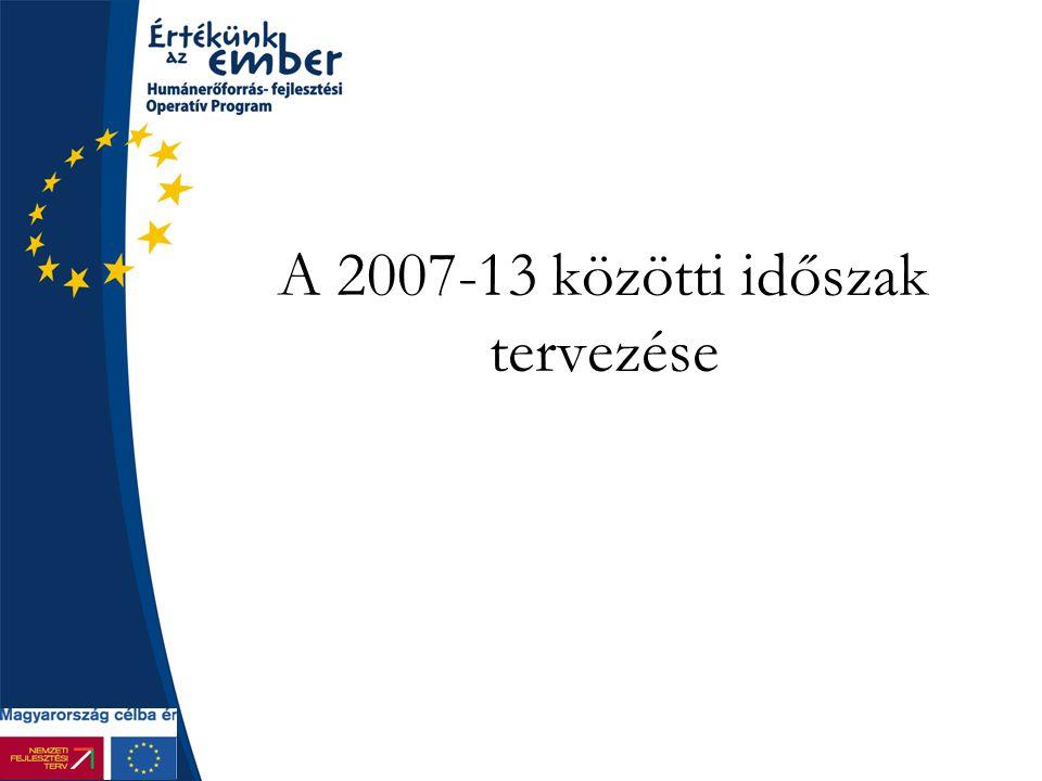 A 2007-13 közötti időszak tervezése