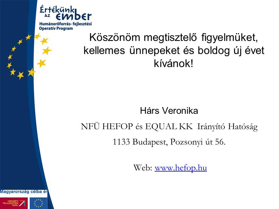 NFÜ HEFOP és EQUAL KK Irányító Hatóság