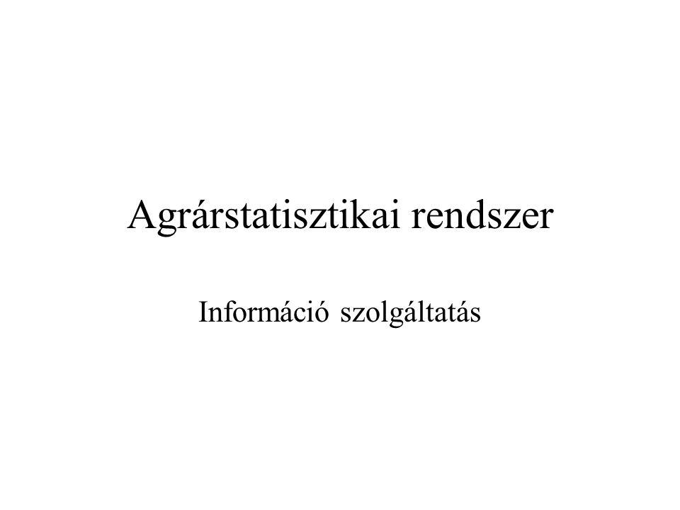 Agrárstatisztikai rendszer