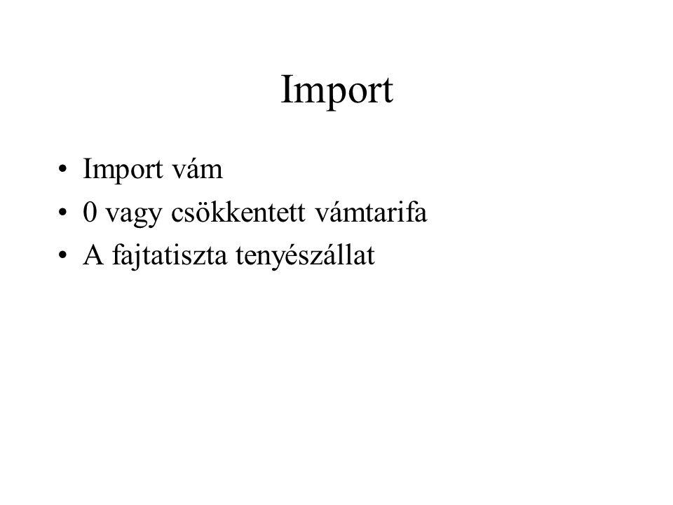Import Import vám 0 vagy csökkentett vámtarifa
