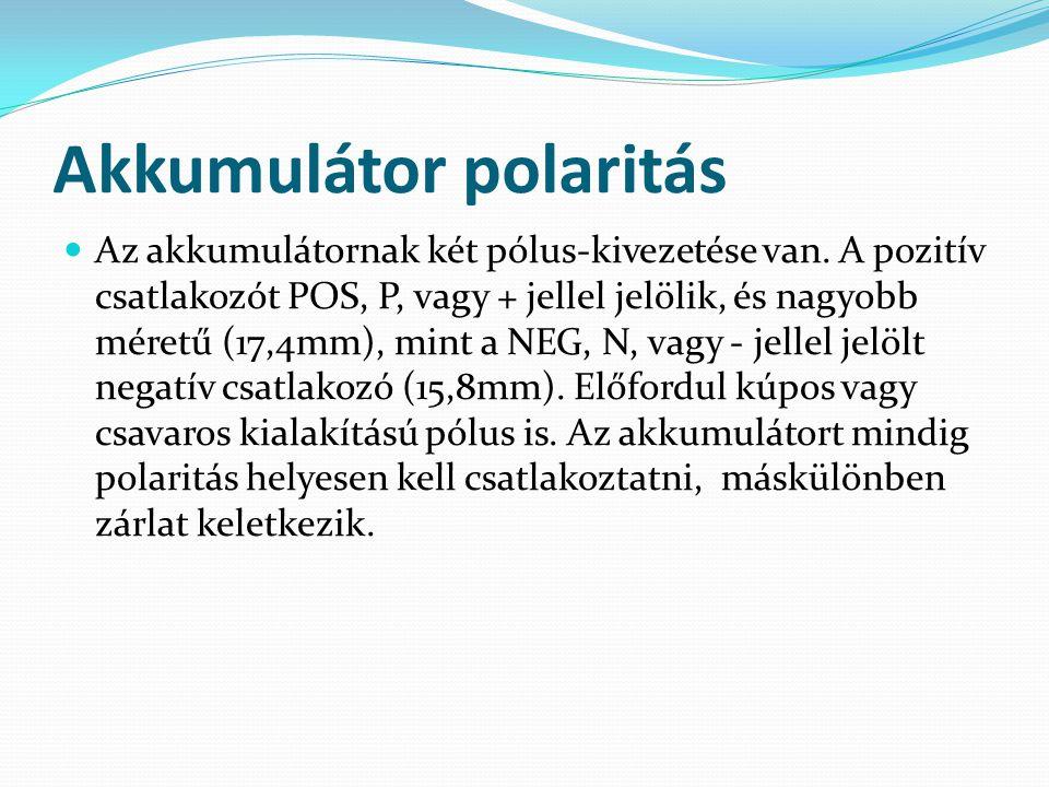 Akkumulátor polaritás
