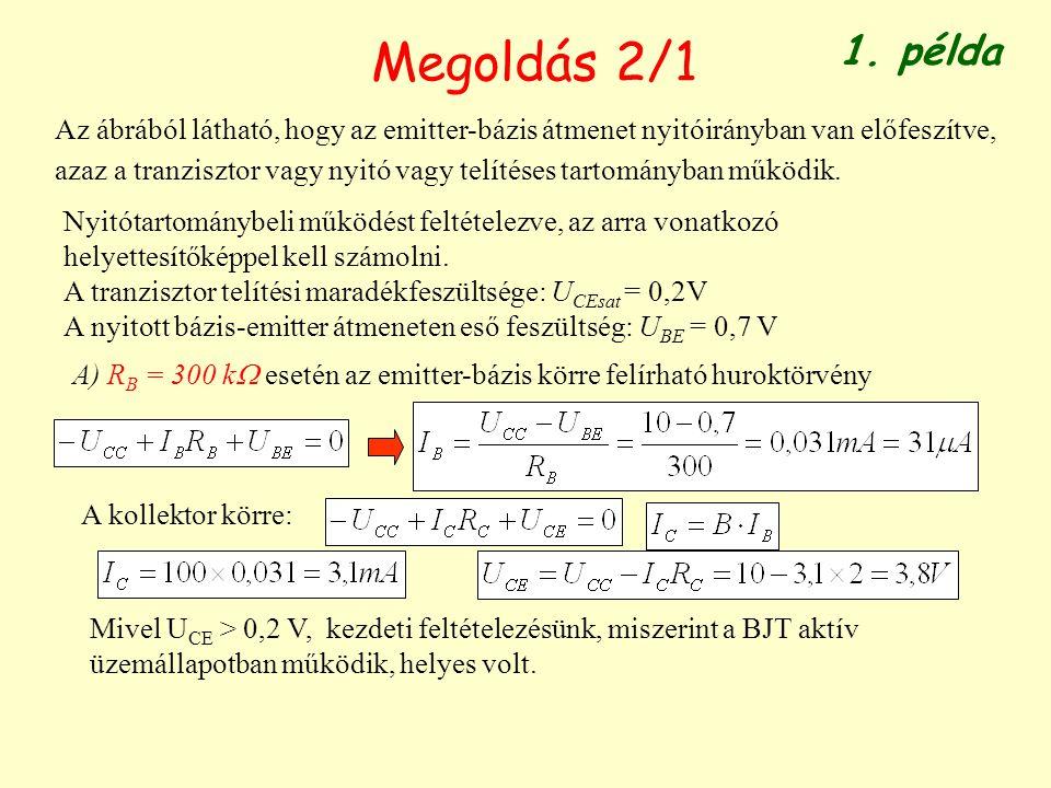 Megoldás 2/1 1. példa.
