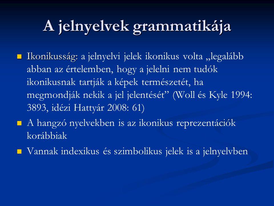 A jelnyelvek grammatikája