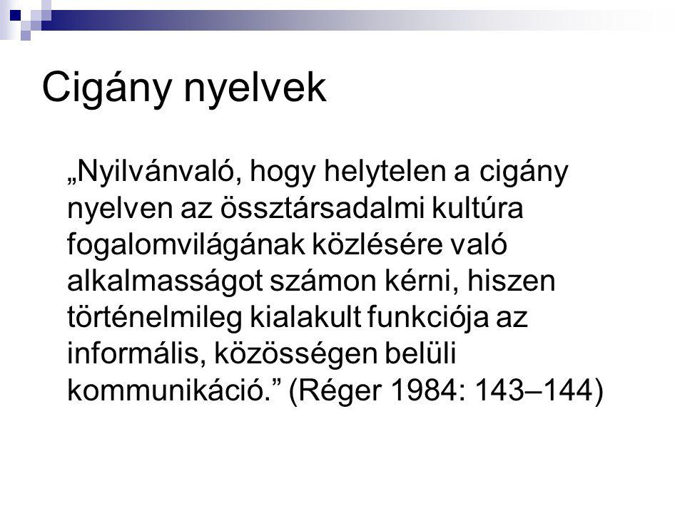 Cigány nyelvek