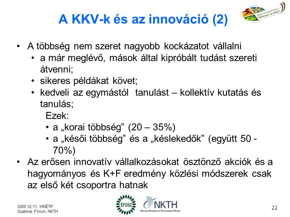A KKV-k és az innováció (2)