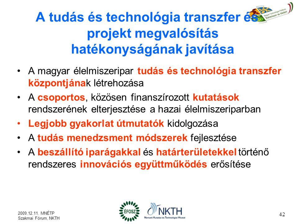 A tudás és technológia transzfer és projekt megvalósítás hatékonyságának javítása
