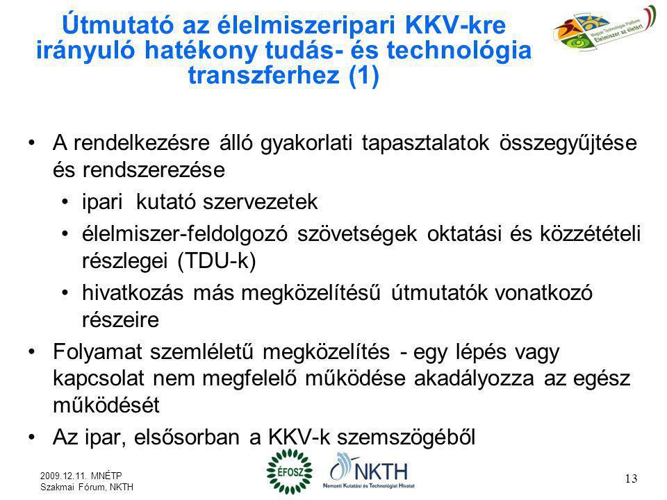 Útmutató az élelmiszeripari KKV-kre irányuló hatékony tudás- és technológia transzferhez (1)