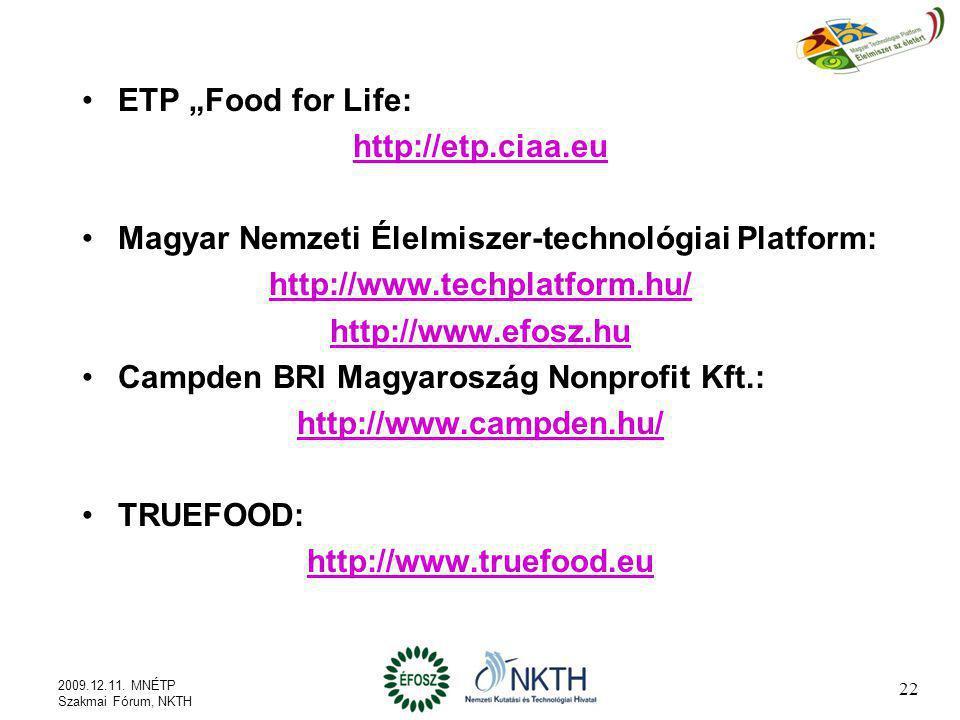 Magyar Nemzeti Élelmiszer-technológiai Platform: