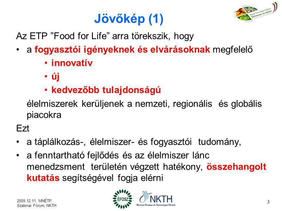 Jövőkép (1) Az ETP Food for Life arra törekszik, hogy