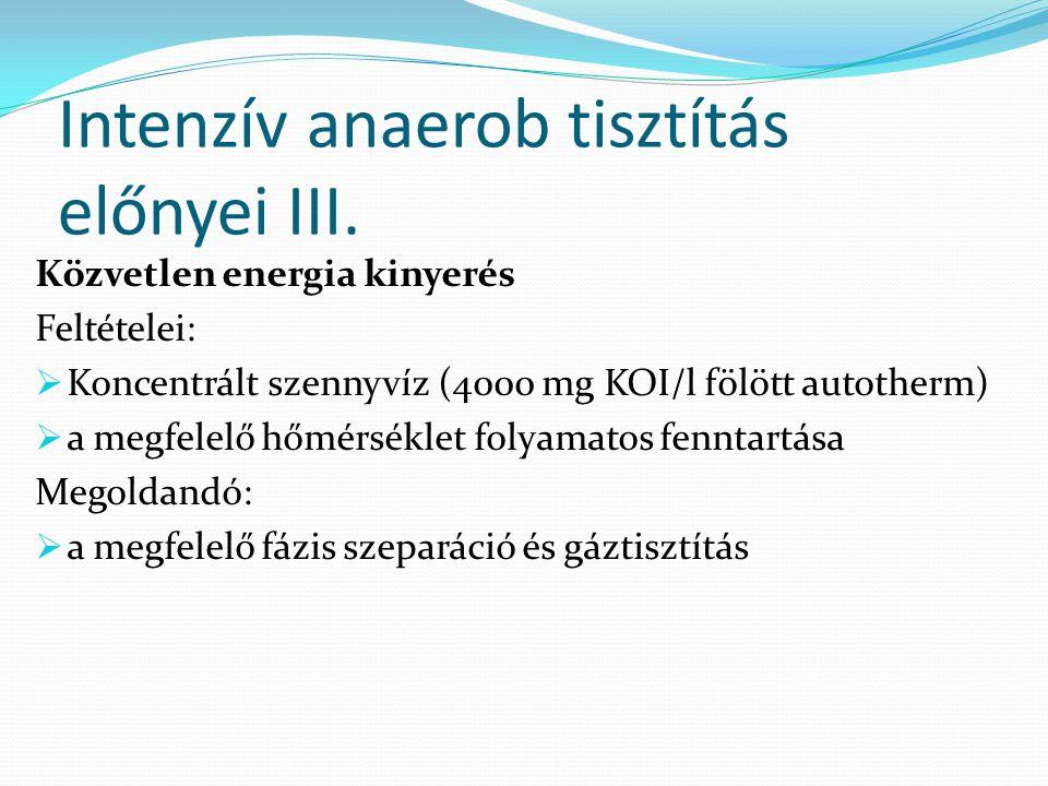 Intenzív anaerob tisztítás előnyei III.