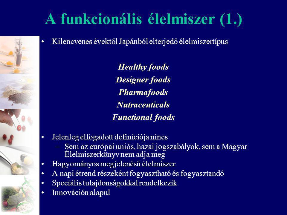 A funkcionális élelmiszer (1.)