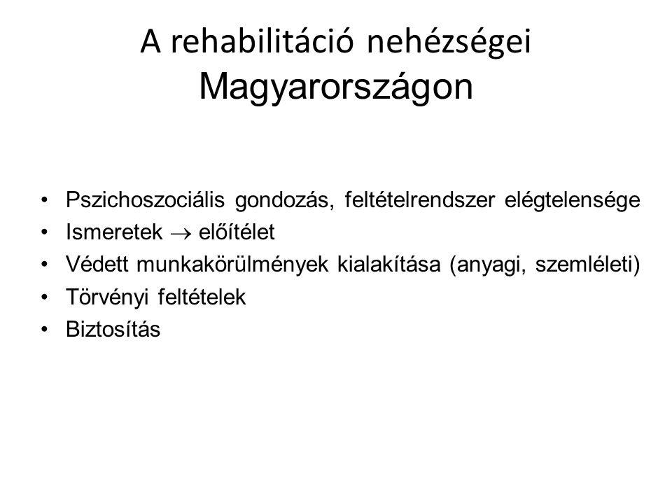 A rehabilitáció nehézségei Magyarországon