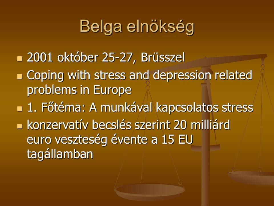 Belga elnökség 2001 október 25-27, Brüsszel