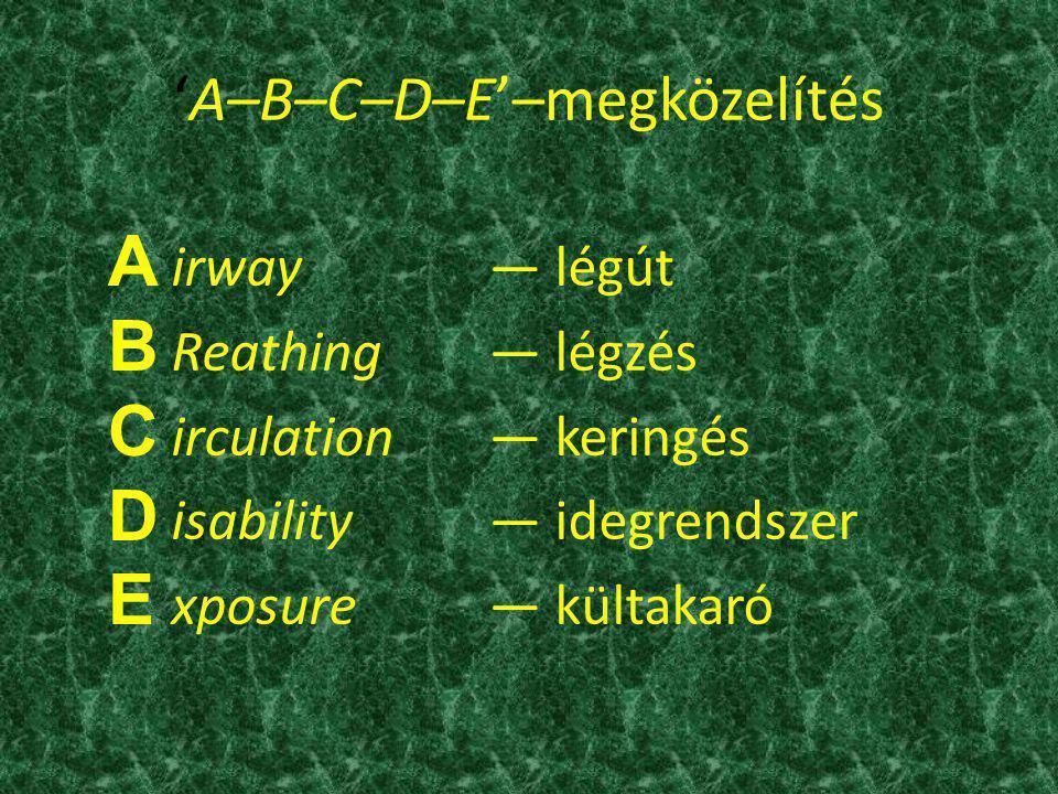 'A–B–C–D–E'–megközelítés
