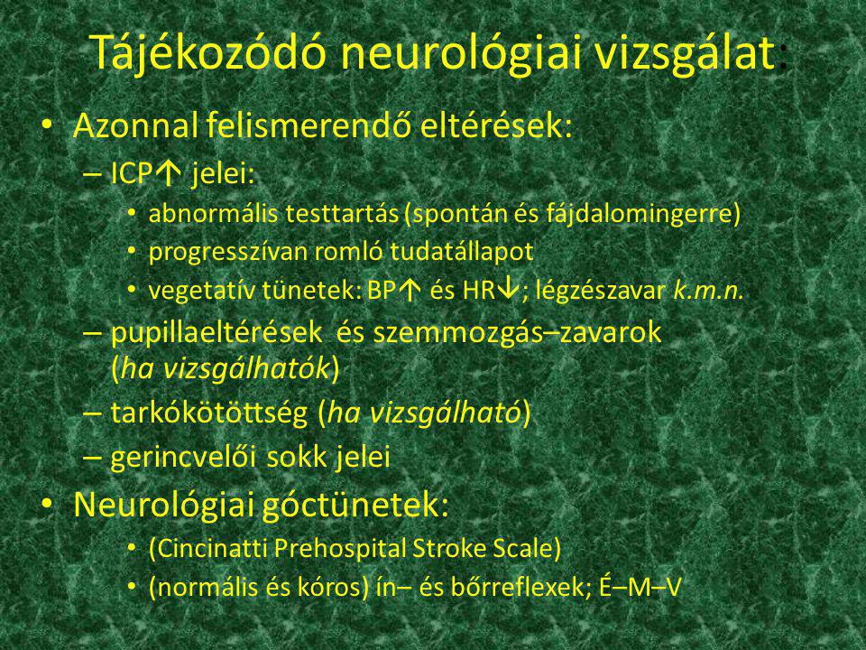 Tájékozódó neurológiai vizsgálat: