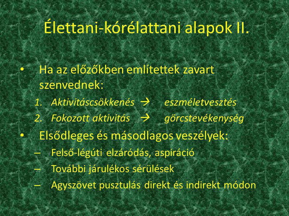 Élettani-kórélattani alapok II.