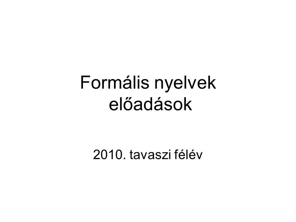 Formális nyelvek előadások