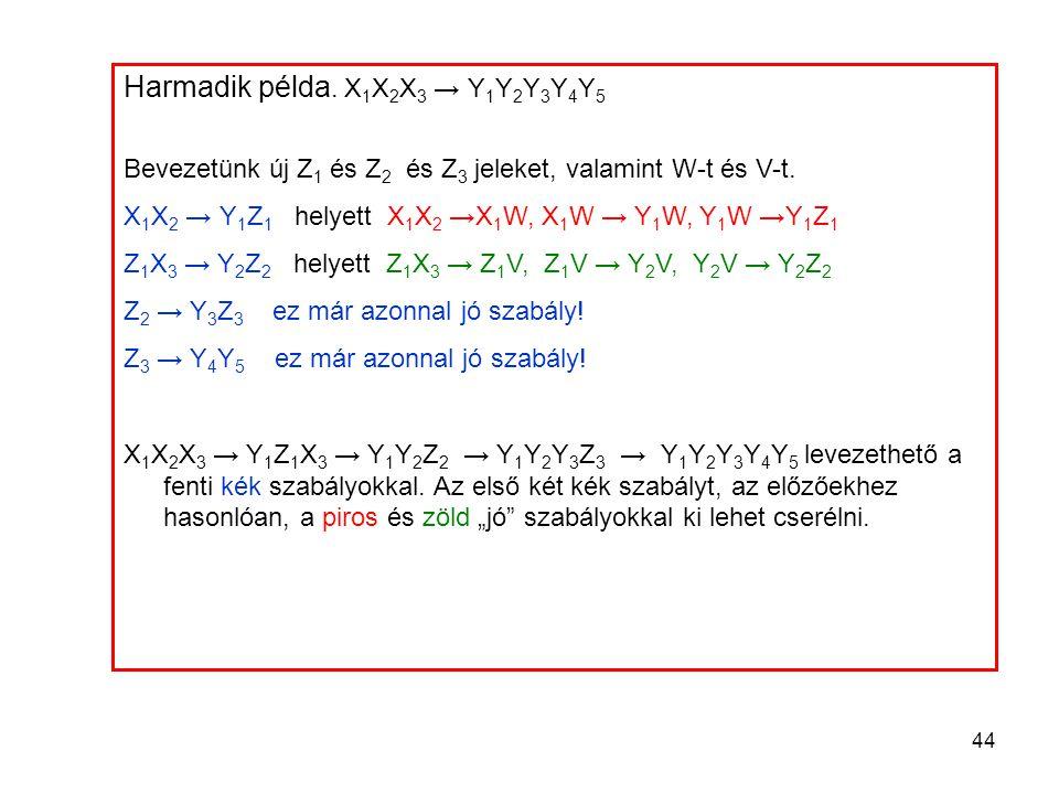 Harmadik példa. X1X2X3 → Y1Y2Y3Y4Y5