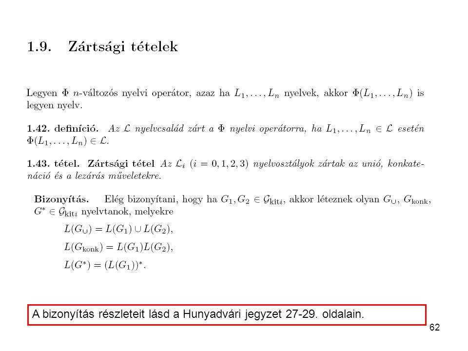 A bizonyítás részleteit lásd a Hunyadvári jegyzet 27-29. oldalain.