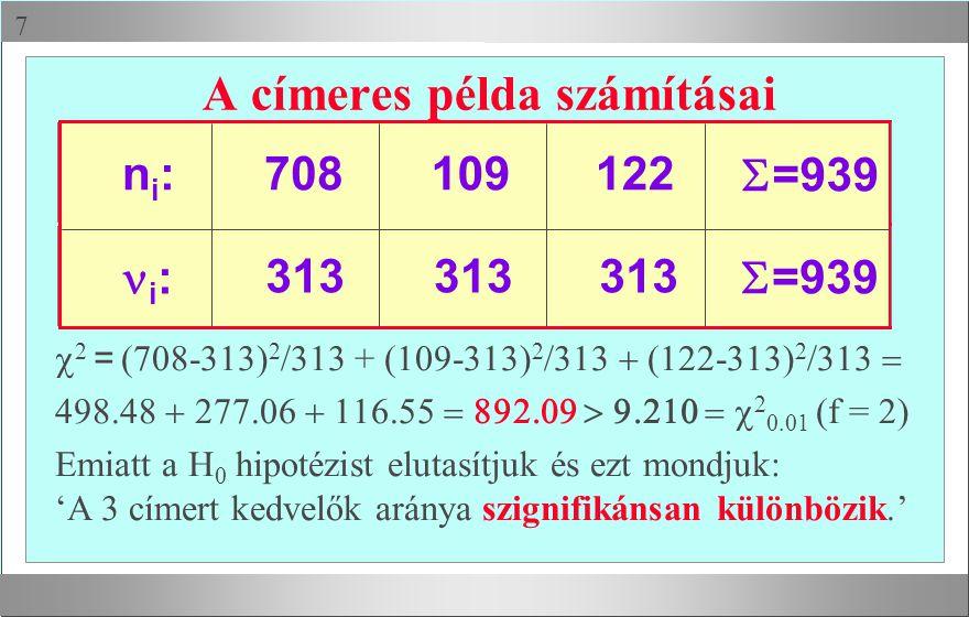 A címeres példa számításai