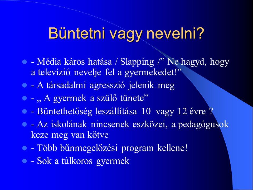 Büntetni vagy nevelni - Média káros hatása / Slapping / Ne hagyd, hogy a televízió nevelje fel a gyermekedet!