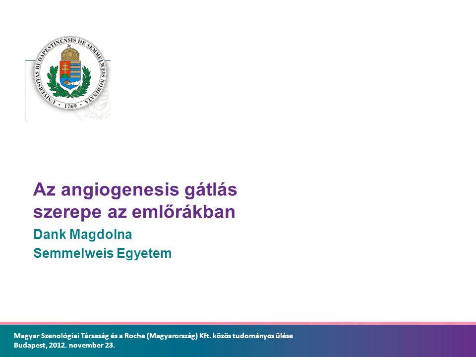 Az angiogenesis gátlás szerepe az emlőrákban