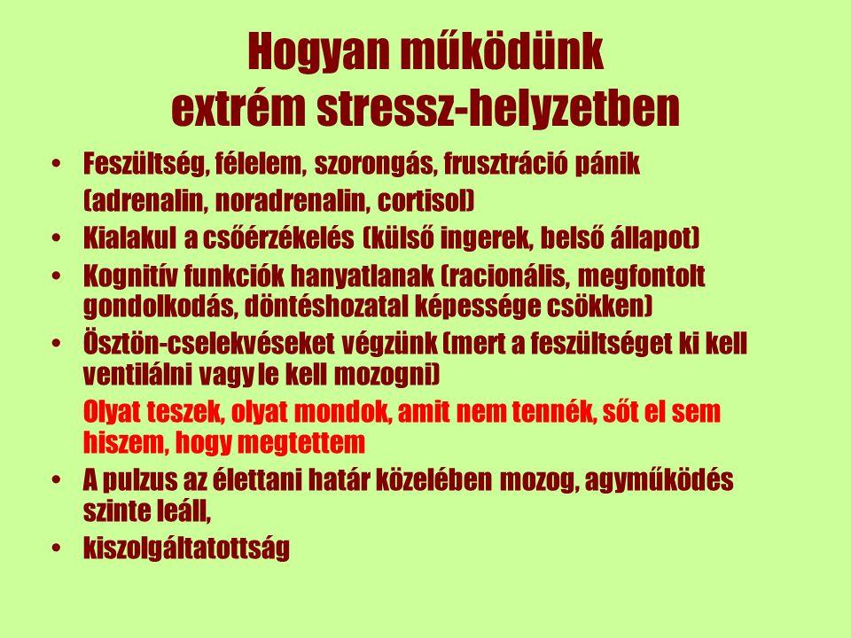 Hogyan működünk extrém stressz-helyzetben