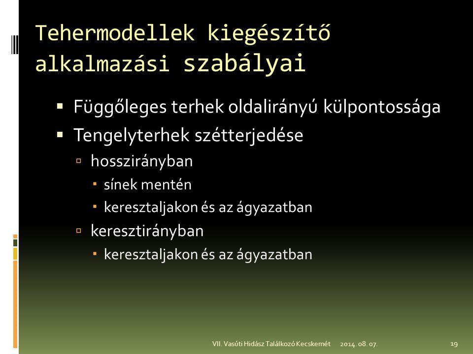 Tehermodellek kiegészítő alkalmazási szabályai