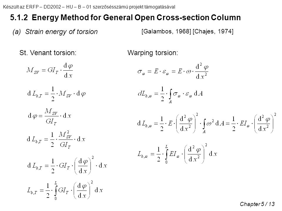 5.1.2 Energy Method for General Open Cross-section Column