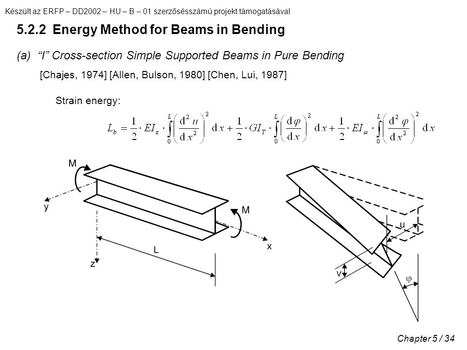 5.2.2 Energy Method for Beams in Bending