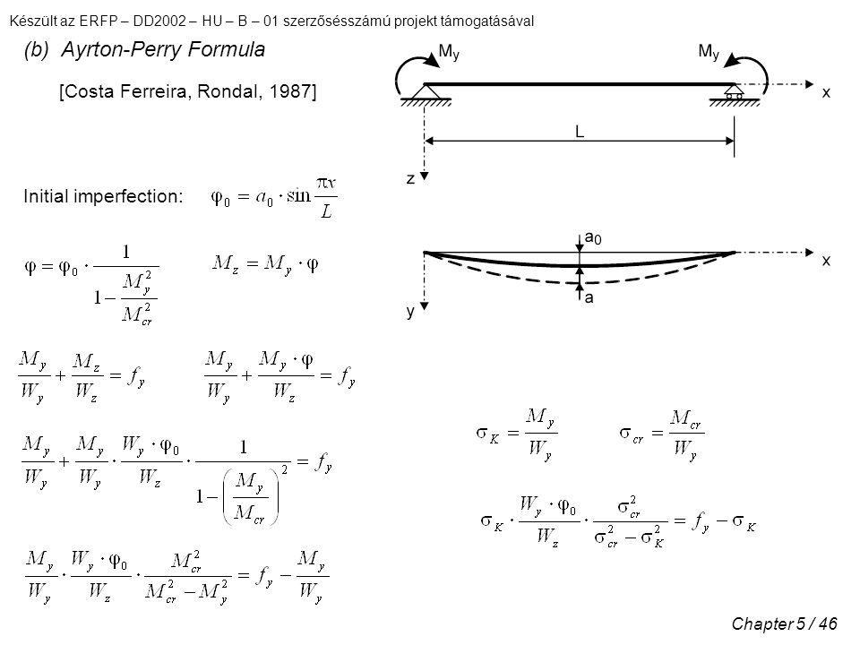 (b) Ayrton-Perry Formula