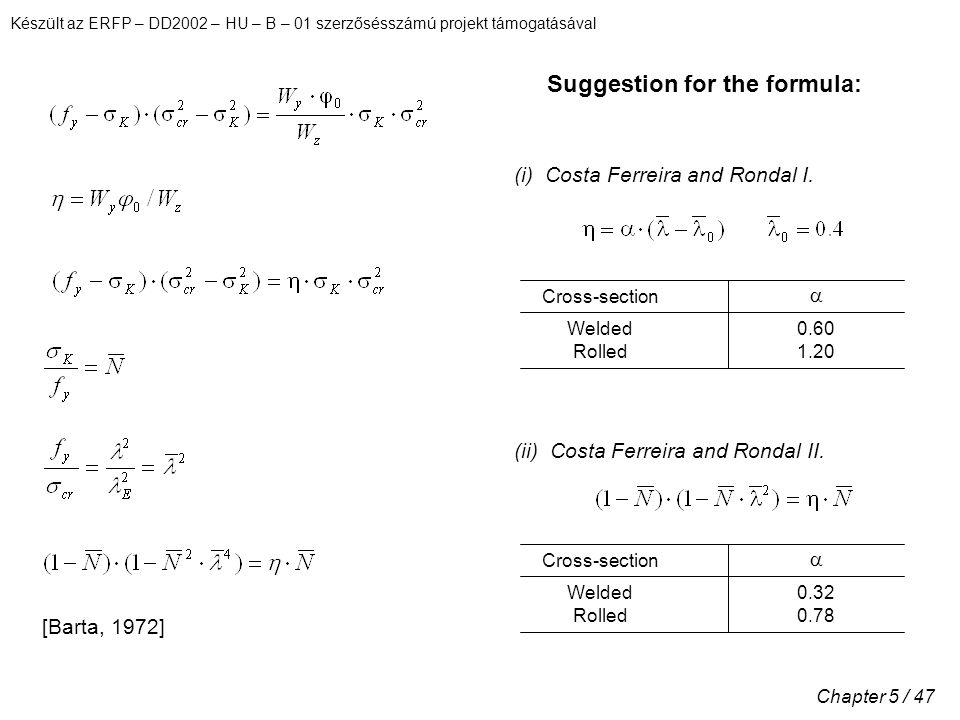 Suggestion for the formula: