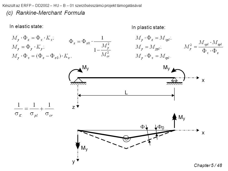 (c) Rankine-Merchant Formula