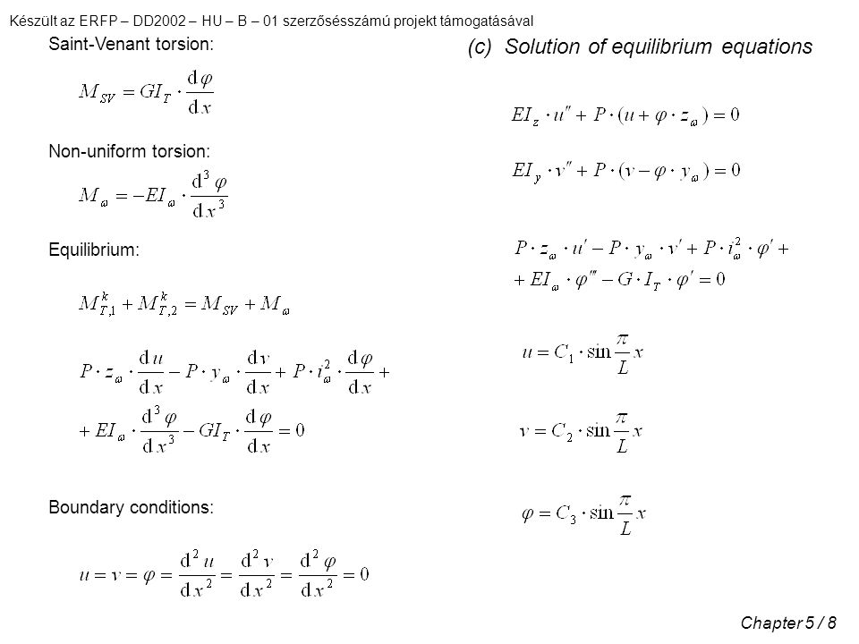 (c) Solution of equilibrium equations