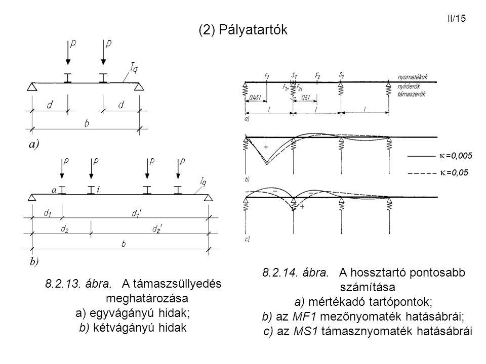 (2) Pályatartók 8.2.14. ábra. A hossztartó pontosabb számítása