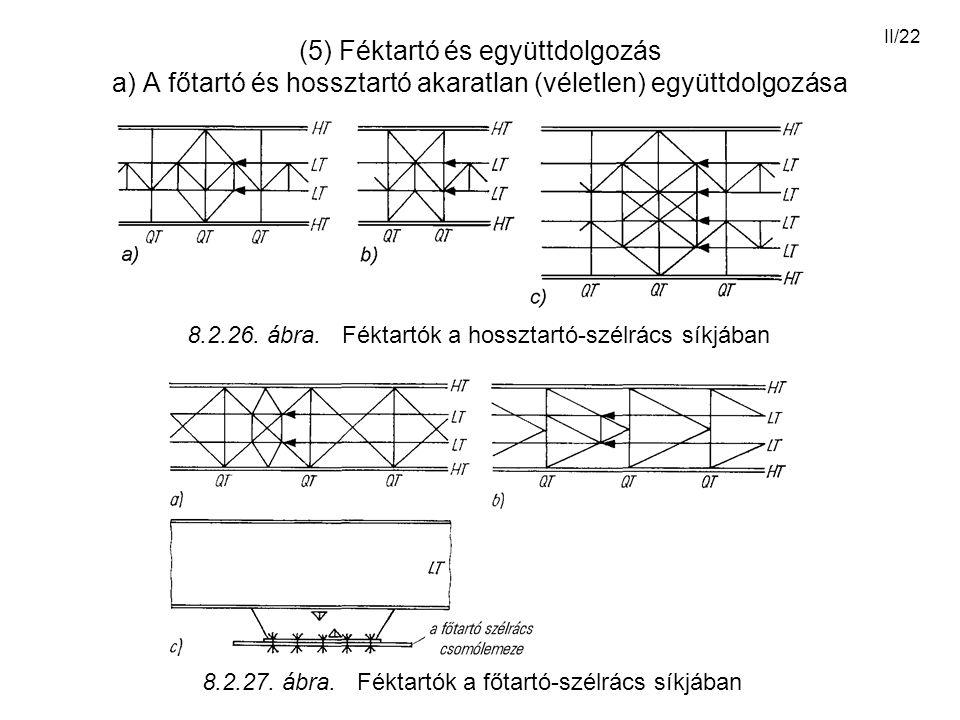 (5) Féktartó és együttdolgozás a) A főtartó és hossztartó akaratlan (véletlen) együttdolgozása