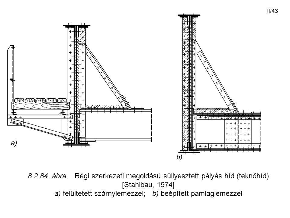 a) felültetett szárnylemezzel; b) beépített pamlaglemezzel